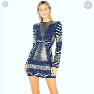 NWT Endless Rose Beaded Sequin Navy Cocktail Dress